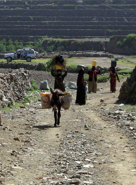 bringing water into the village of Beit al-Amir