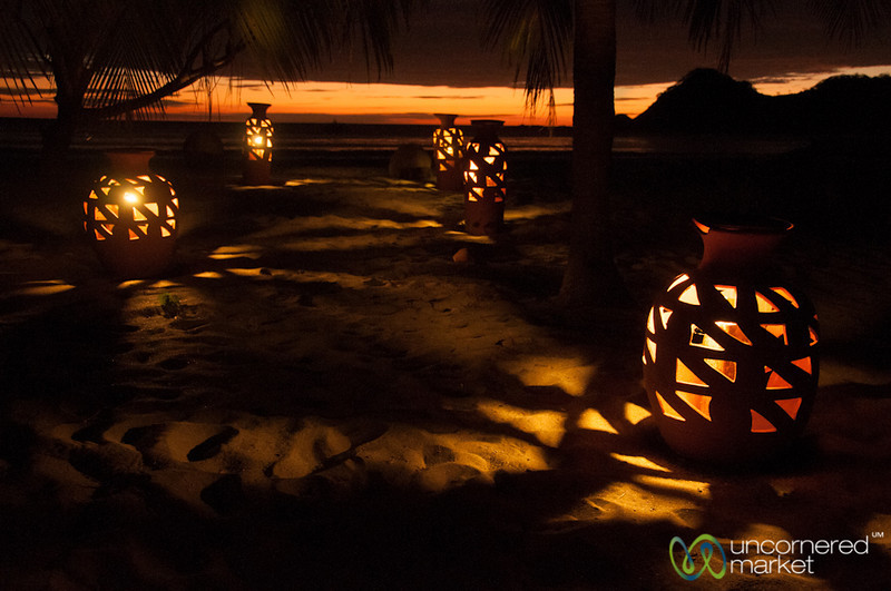 Light Reflections in the Sand - Morgan's Rock, Nicaragua