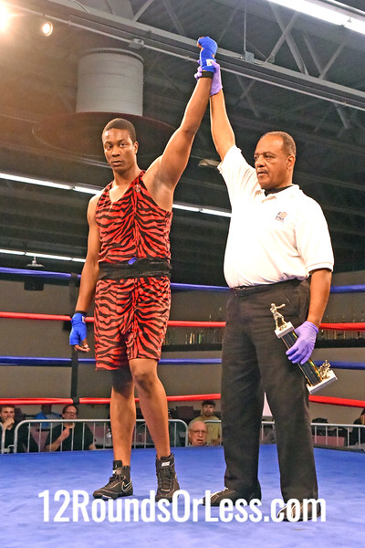 Bout 12 Shawndale Hood, Red Gloves, Glenville Rec. -vs- Tyrrell Harris, Blue Gloves, PA, Super Heavyweight