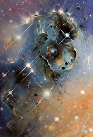 """The birth of consciousness"" (oil on canvas) by Diana Kiyamutdinova"