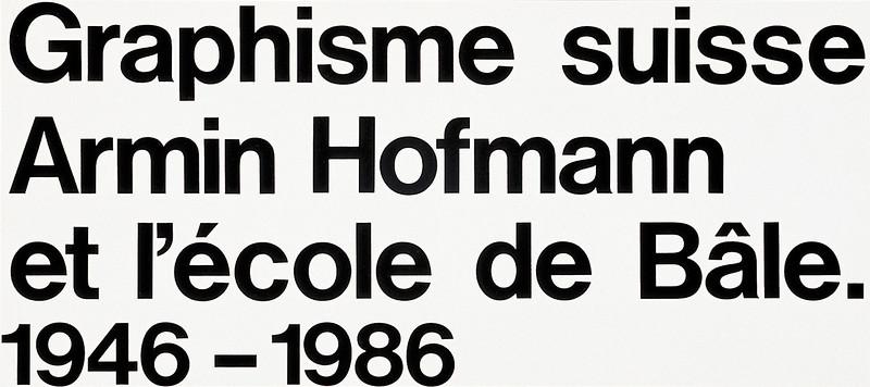 Graphisme suisse: Armin Hofmann_ 8788