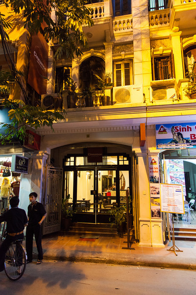 The front of Cinnamon Hotel in Hanoi.