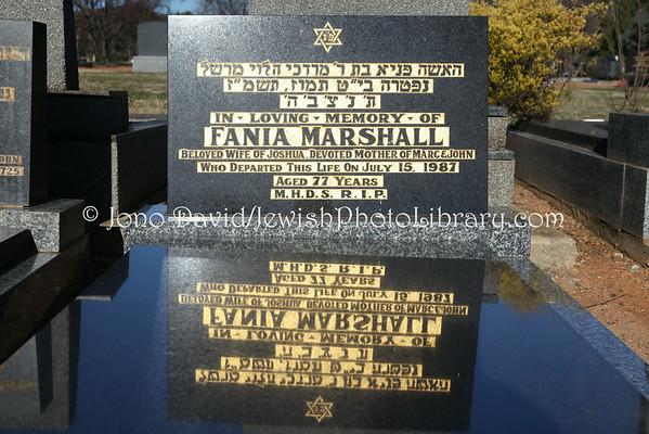 AUSTRALIA, Australian Capital Territory (ACT), Canberra. Jewish sector, Woden Cemetery. (8.2010)