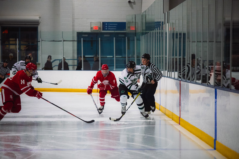 Holy Family Boys Varsity Hockey vs. Benilde-St. Margaret's, 12/26/19: Lucas Jorgenson '20 (16)