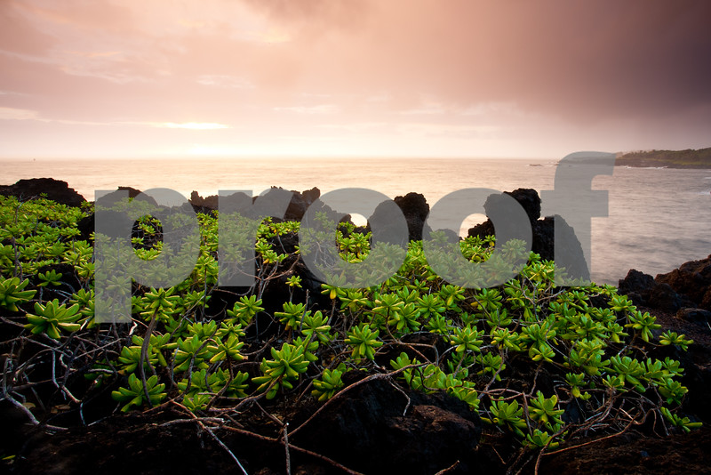 Sunrise at Wai'anapanapa, Maui