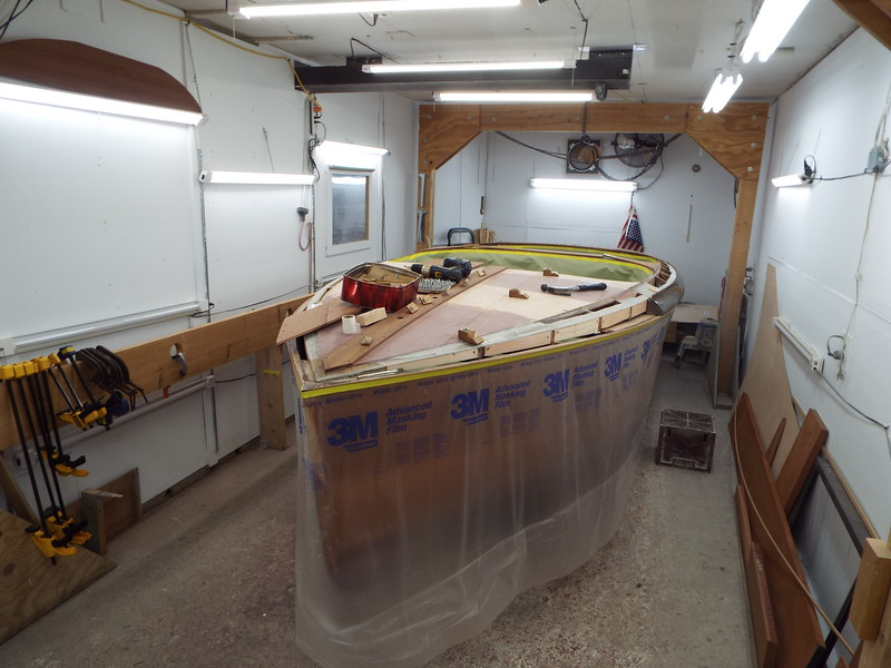 Getting ready to epoxy the new port side front deck.