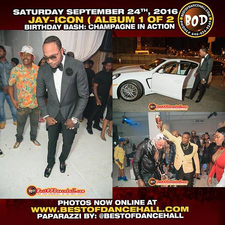9-24-2016-MANHATTAN-Jay Icon Birthday Bash Champagne In Action