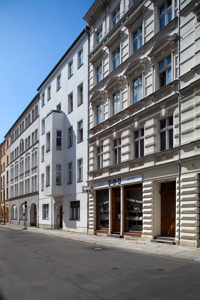 Buildings on Auguststrasse, Berlin, Germany