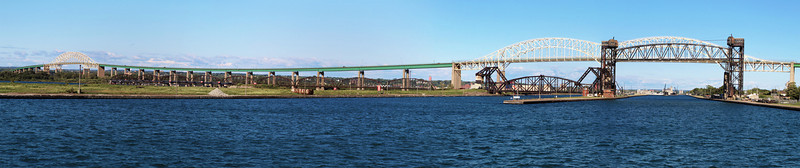 Bridges across the Sault Ste. Marie Locks.