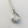 1.03ct Pear Shape Rose Cut Diamond Pendant 18