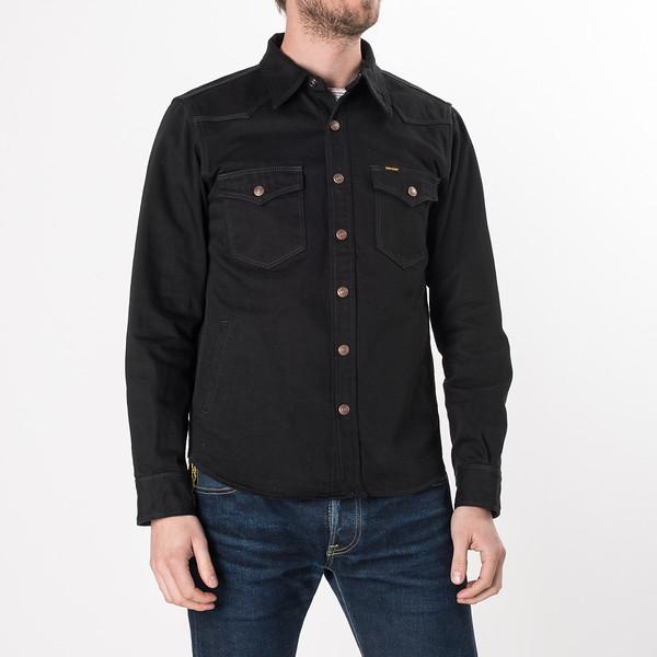 IHSH-166 - Superblack 12oz Selvedge Denim CPO Style Western Shirt-6280.jpg
