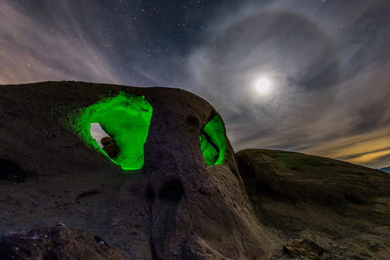 Angry Green Eyes and Moon Halo