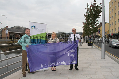 NEWRY CITY ADDS A SPLASH OF COLOUR TO CELEBRATE PURPLE FLAG STATUS