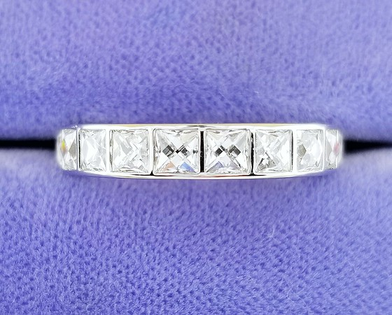 2.60ctw French Cut Diamond Eternity Band by CvB