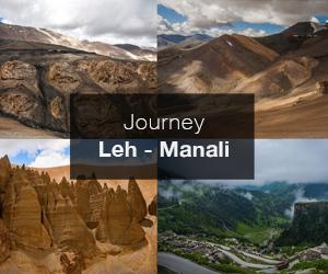 Road trip from Leh in Ladakh to Manalai in Himachal Pradesh, India
