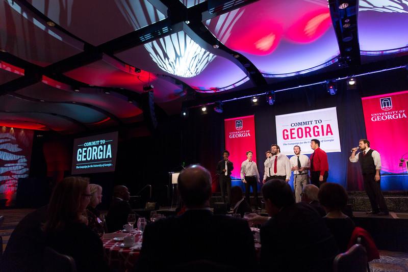 Description: Capital Campaign Atlanta Kickoff ProgramDate of Photo: 11/17/2016Credit: Andrew Davis Tucker, University of GeorgiaPhotographic Services File: 34431-043The University of Georgia owns the rights to this image or has permission to redistribute this image. Permission to use this image is granted for internal UGA publications and promotions and for a one-time use for news purposes. Separate permission and payment of a fee is required to use any image for any other purpose, including but not limited to, commercial, advertising or illustrative purposes. Unauthorized use of any of these copyrighted photographs is unlawful and may subject the user to civil and criminal penalties. Possession of this image signifies agreement to all the terms described above.