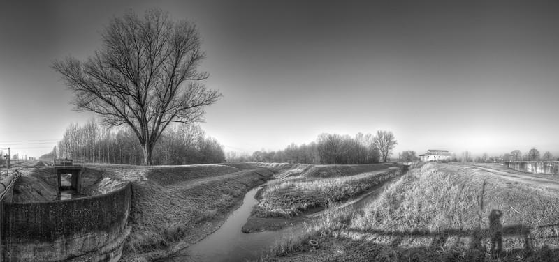 Zena Canal - Nonantola, Modena, Italy - December 22, 2011