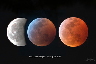Blood Moon - Total Lunar Eclipse  1-20-19