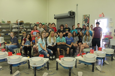 FHS Art Students and Clay Day at ACC