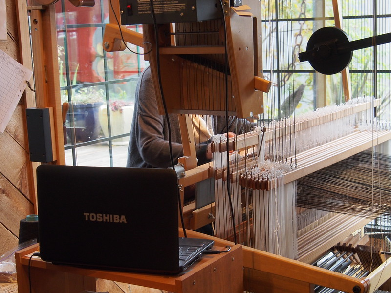 Oct. 19/13 - Weaving silk in Granville Island shop
