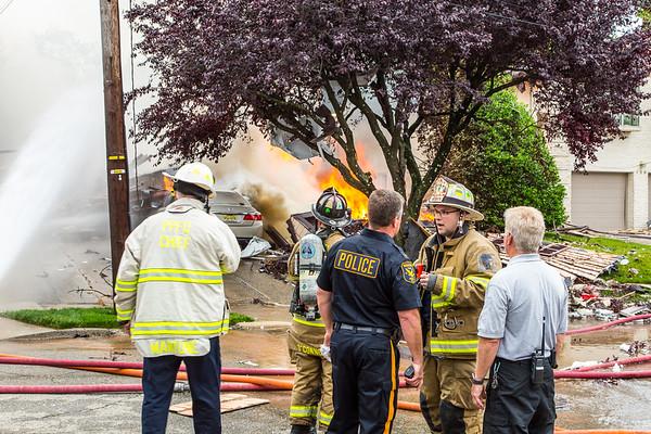 Ridgefield NJ 2nd alarm gas explosion, 360 Abbott Ave. 6-17-19