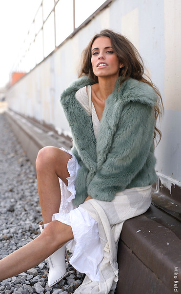 Marie...fashion blogger at the Train Depot in Boise.
