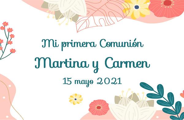 Comunión Martina y Carmen