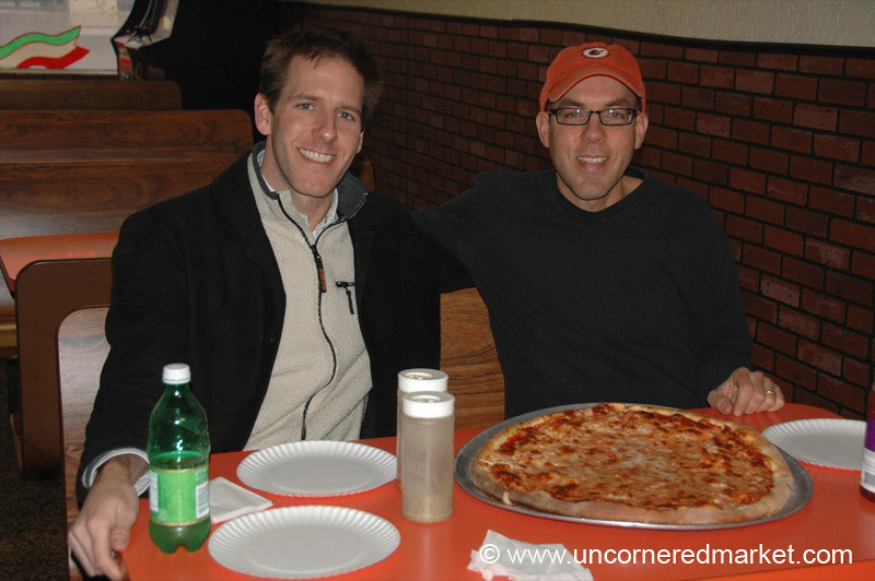 Dan with His Brother at Buona's - Scranton, Pennsylvania