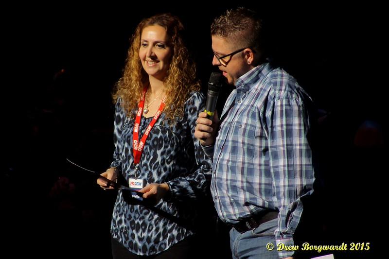 Stella Stevens & Sean Burke, CFCW - Hosts - Mickey Gilley at Shoctor Theatre 008