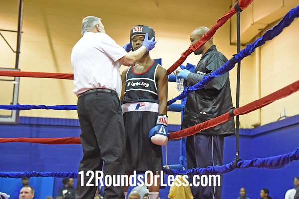 Bout 5 Shondal Luggett, Coach Kamala, Columbus, OH, Red Gloves -vs- Khalid Muhammad, Coach Smooth, Columbus, OH, Blue Gloves, 134 Lbs.