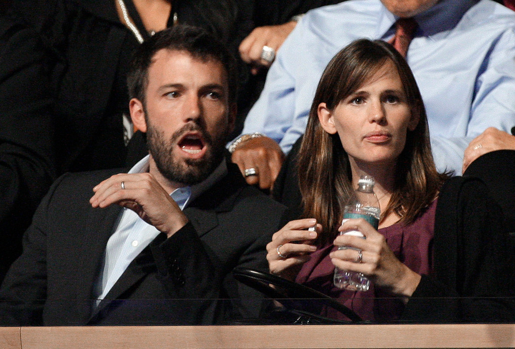 . FILE - In this Aug. 27, 2088 file photo, actors Ben Affleck and Jennifer Garner are seen at the Democratic National Convention in Denver.   (AP Photo/Paul Sancya)