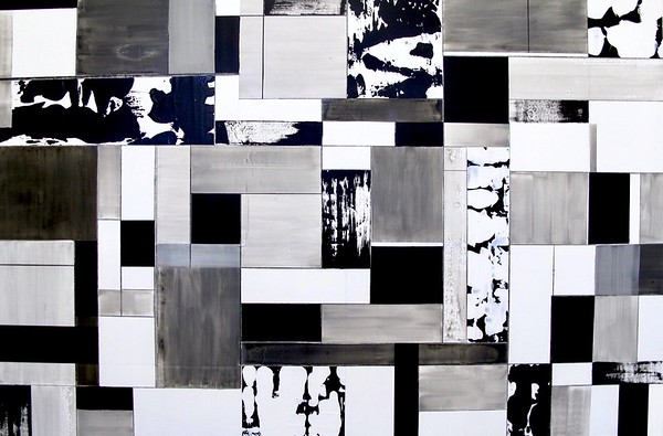 """Rectangularity by Iorillo, 40""""x60"""" acrylic painting on canvas"""