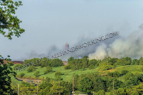 Kearny, NJ 631 Belleville Tpke. Dump/Mulch Pile fire