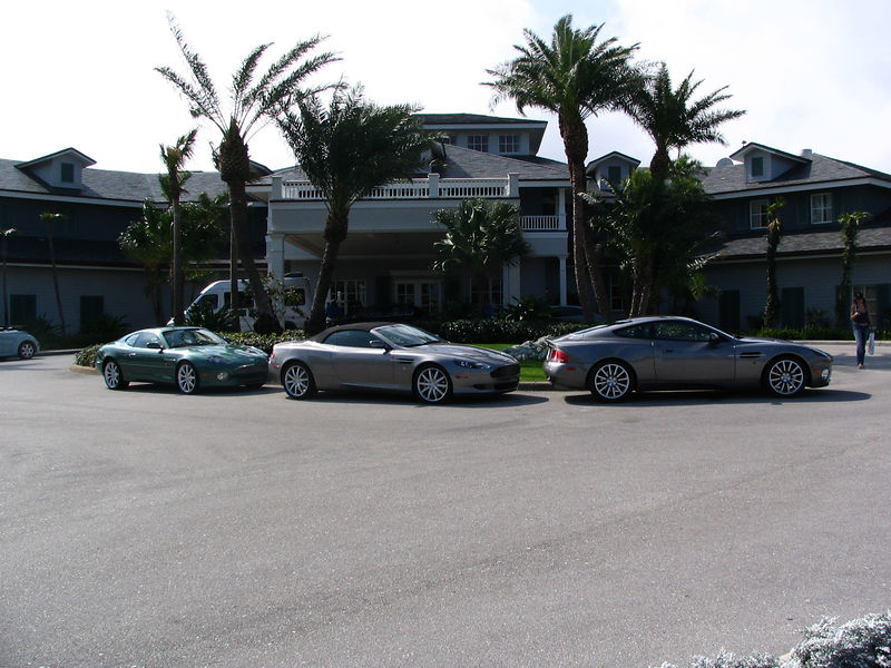 Aston Martin DB9 lineup at The Palm Beach Golf & Tennis Club