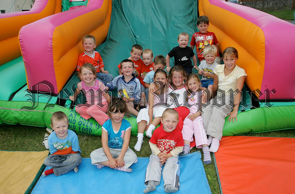 Some of the children pictured at St Oliver Plunkett park Camlough during their annual fun day. 06W32N7