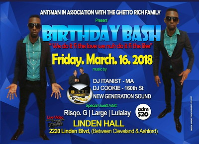 "ANTSMAN ""BIRTHDAY BASH 2018""(115"""
