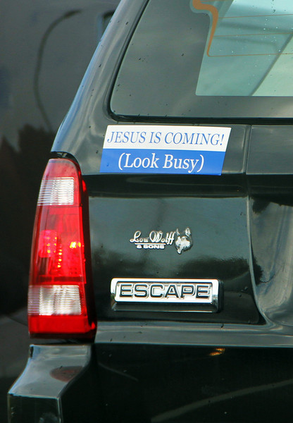 Bumper-sticker thought for the day