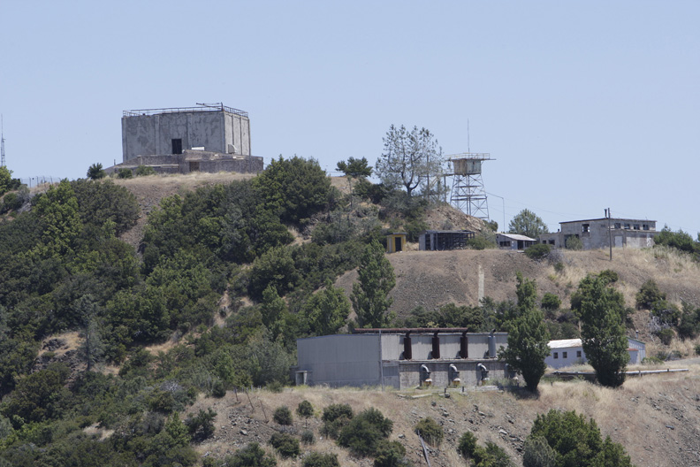 . 2010: The former Almaden Air Force Station is the backdrop of the Mt. Umunhum Restoration Project ceremonial groundbreaking.  (Gary Reyes /Mercury News)