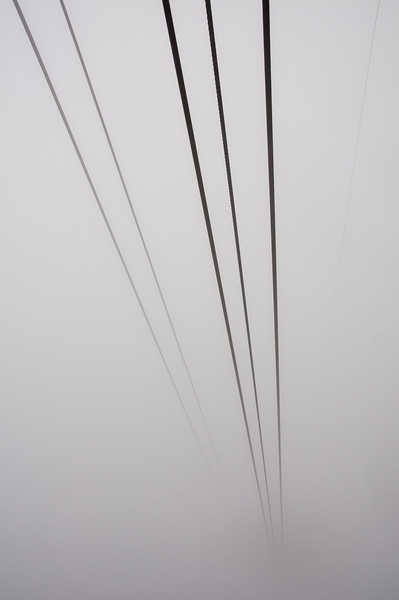 Cable lines in Cape Town, South Africa