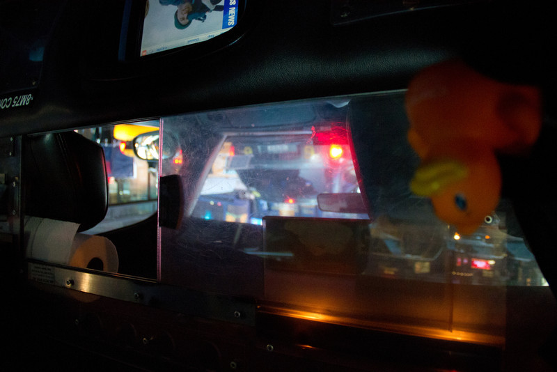 The Traveling Idera Duck rides in a NYC cab
