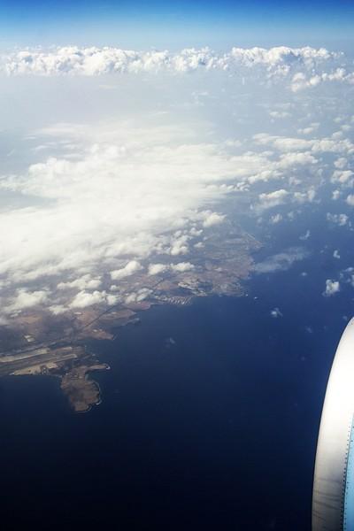 Kanárské ostrovy, Gran Canaria, vlevo v dolní části letiště
