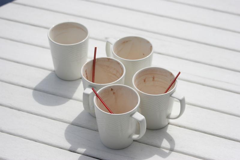 hot chocolate enjoyed on the deck