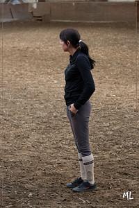 Caitlyn haar 7e paardrijles