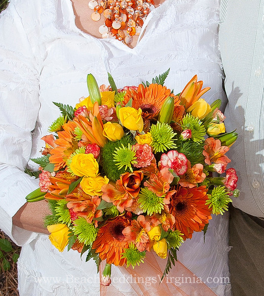 orange, yellow, green mixture, cascading