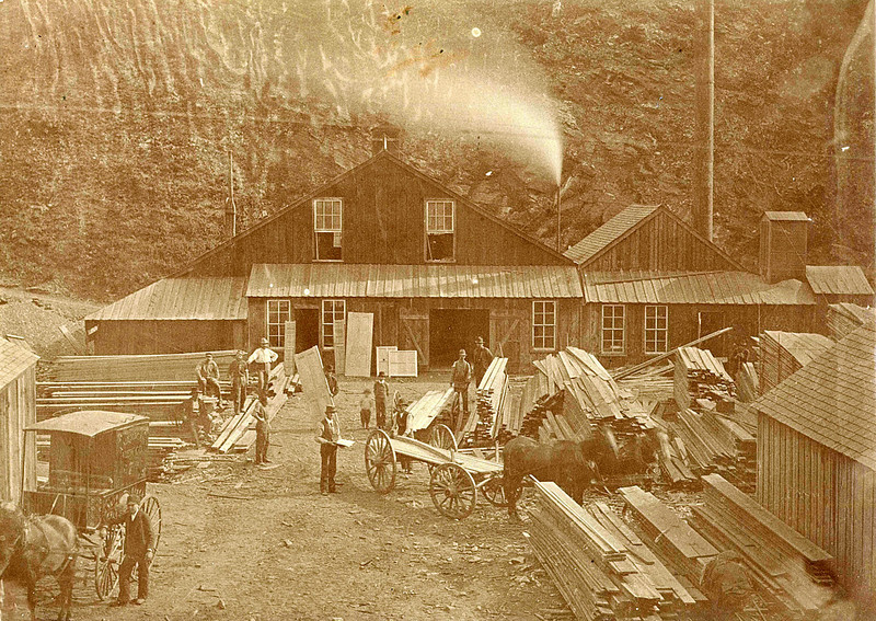The Gayville planing mill.  Undated.
