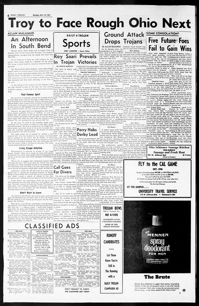 Daily Trojan, Vol. 55, No. 16, October 14, 1963