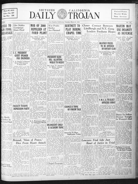 Daily Trojan, Vol. 23, No. 103, March 08, 1932