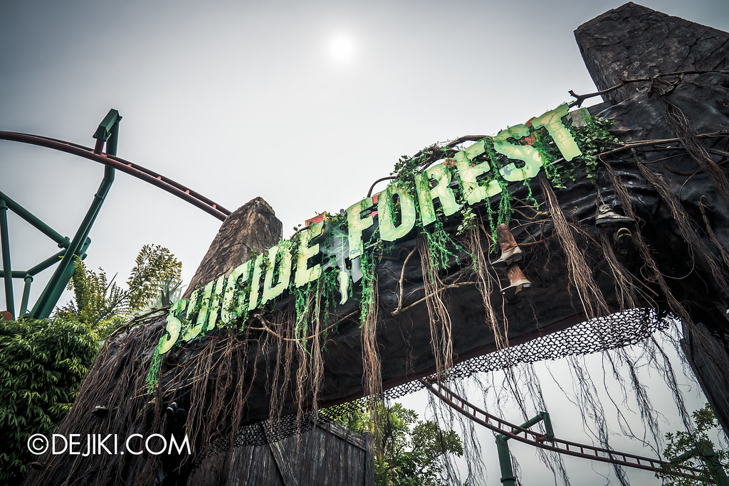 Universal Studios Singapore - Halloween Horror Nights 6 Before Dark Day Photo Report 3 - Suicide Forest scare zone entrance