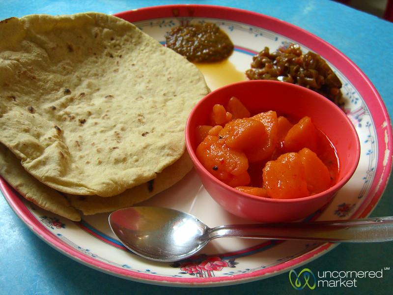 Chapati and Pickle - Darjeeling, India