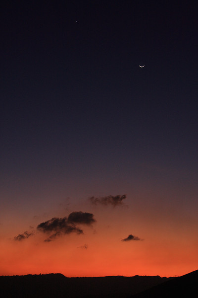 The Moon with Venus